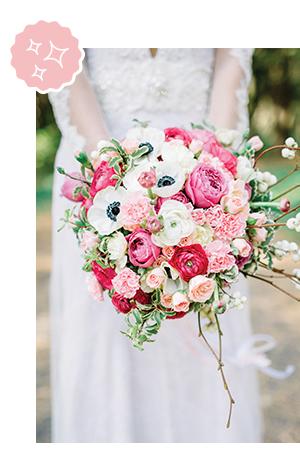 Mariage coordination bouquet de la mariée