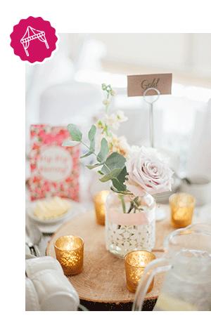 Décoration de mariage centre de table