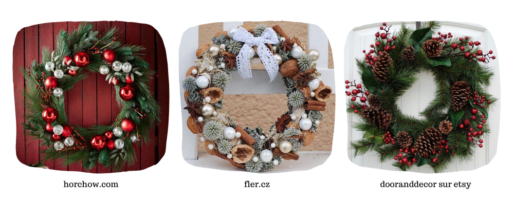 inspirations diy couronne de noël