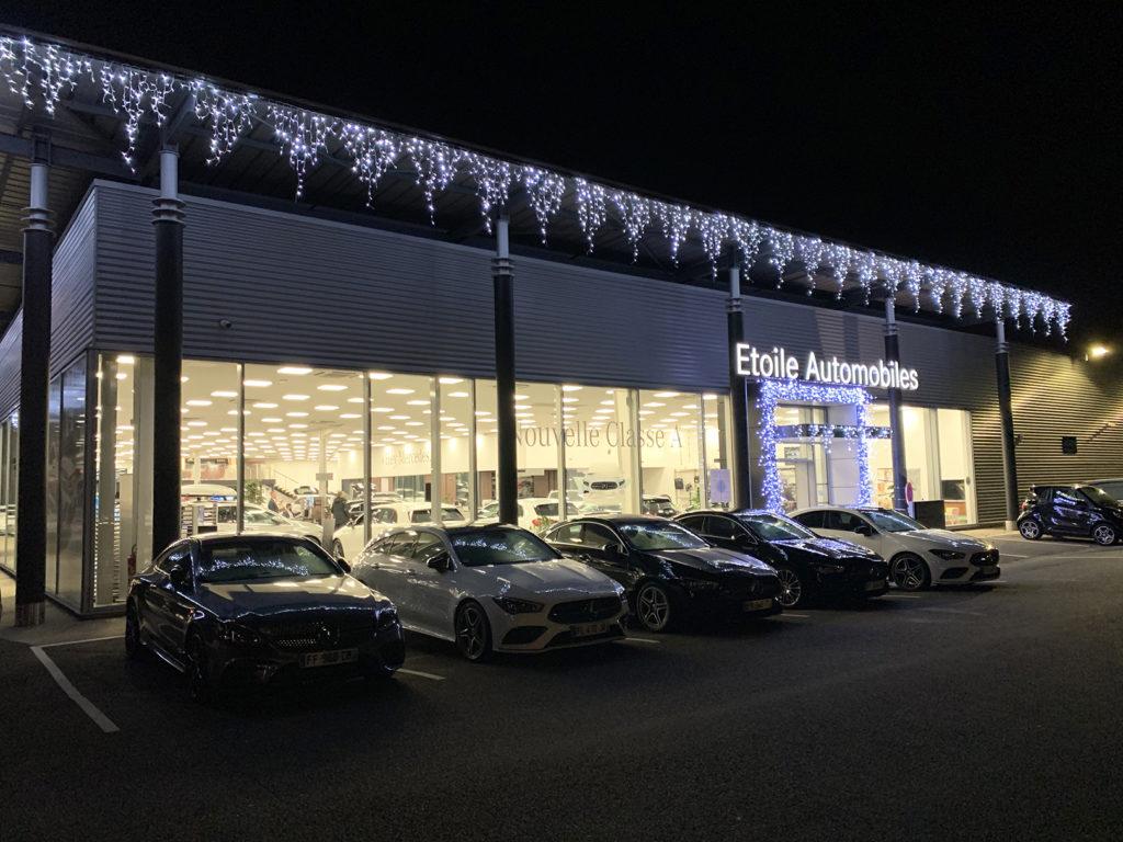 décoration noël lumineuse concession automobile