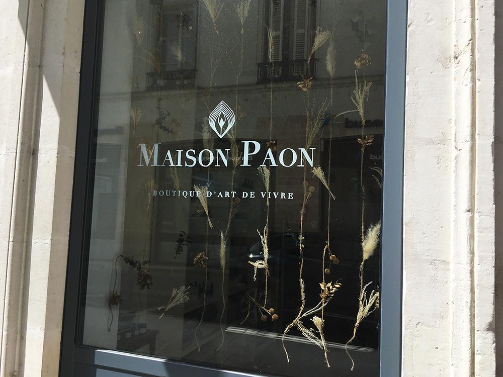 logo vitrine posca maison paon