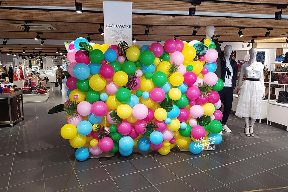 mur de ballons summer