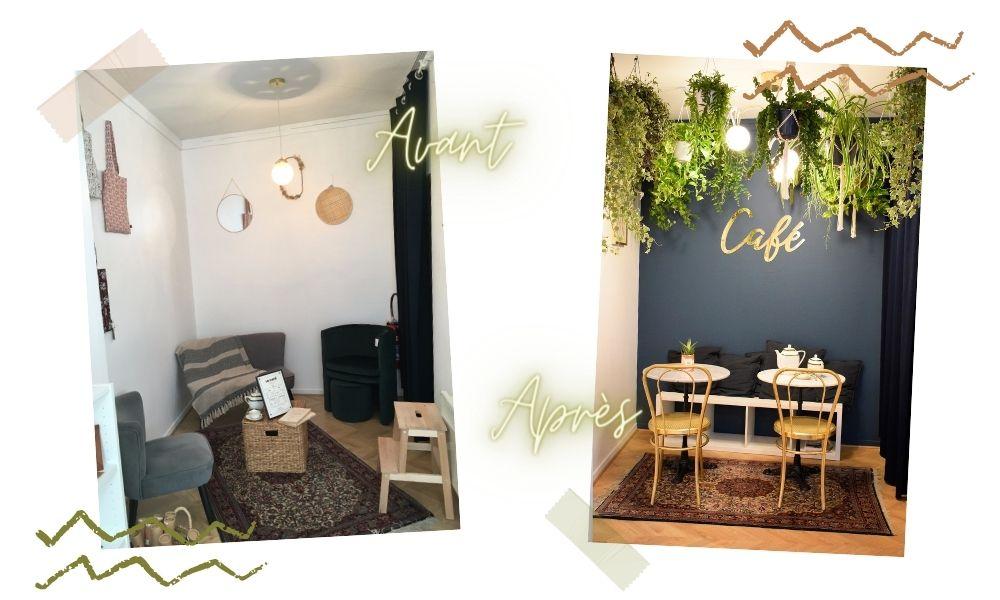 déco jungle espace café Tours