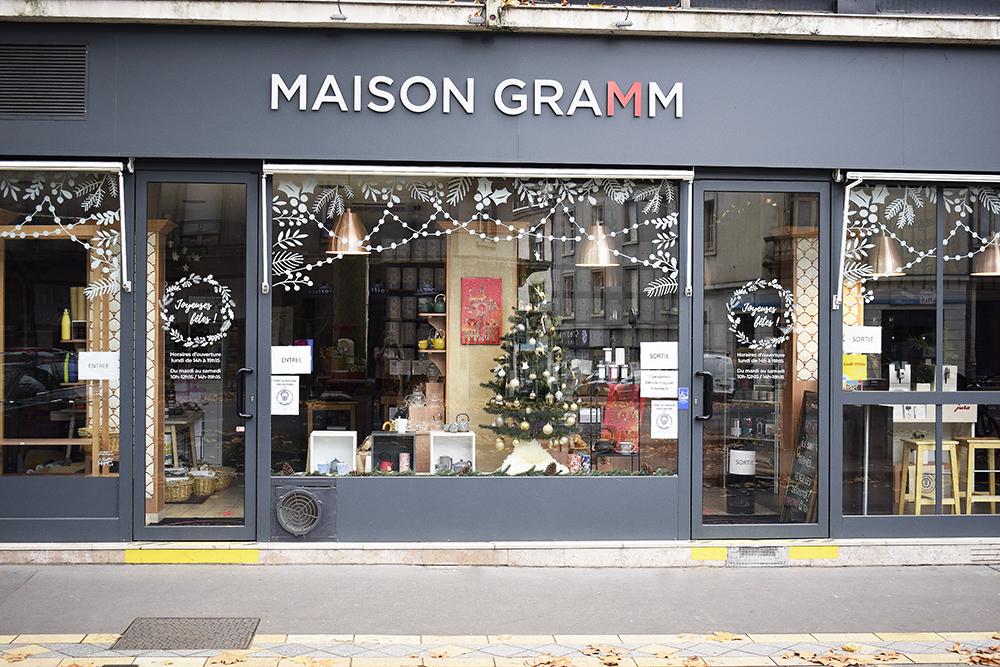 vitrine posca Maison Gramm Tours