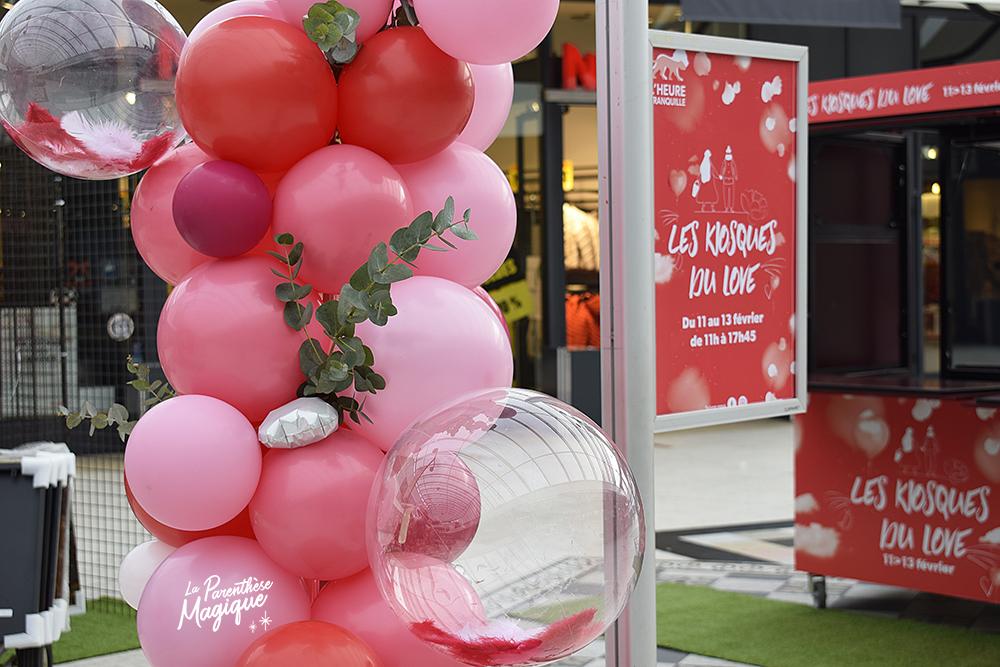 colonne ballons organique saint valentin