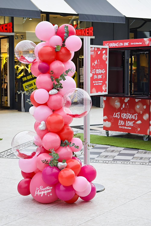 colonne organique ballons saint valentin