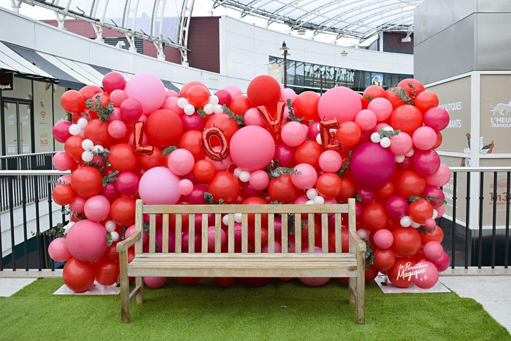 mur ballons saint valentin